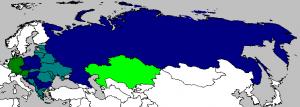Мапа земаља учесница Аутор; Mate Forgacs; Лиценца: CC-BY-SA-3.0.